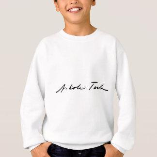 Unterschrift des Strom-Genies Nikola Tesla Sweatshirt