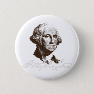 Unterschrift George Washington Runder Button 5,7 Cm
