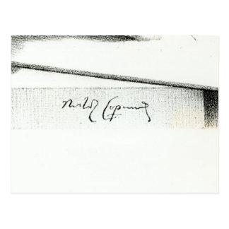 Unterschrift von Nikolaus Kopernikus Postkarte