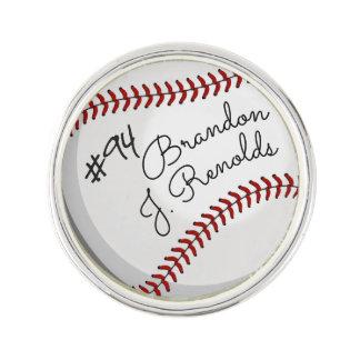 Unterschriften-Baseball Anstecknadel