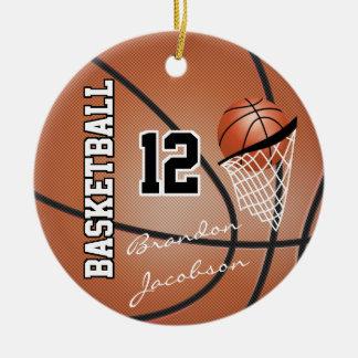 Unterschriften-Stern-Basketball-Spieler Keramik Ornament