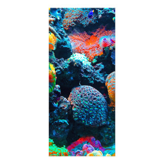 Unterseeisches tropisches Korallenriff Werbekarte