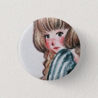 Unterseite: Mädchen Runder Button 3,2 Cm