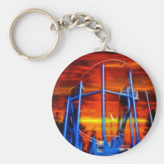 Untersetzer am Sonnenuntergang Schlüsselanhänger