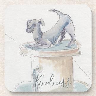 "Untersetzer ""London/Hundewatercolor-Skizze """