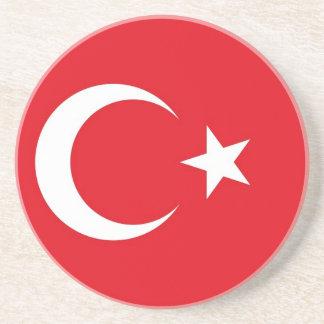 Untersetzer mit Flagge von der Türkei