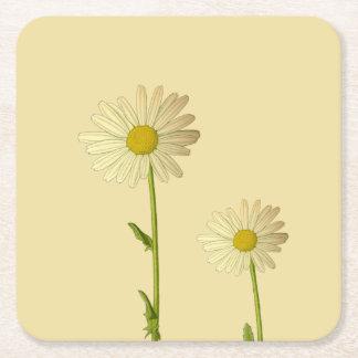 Untersetzer mit Gänseblümchen-Blumen
