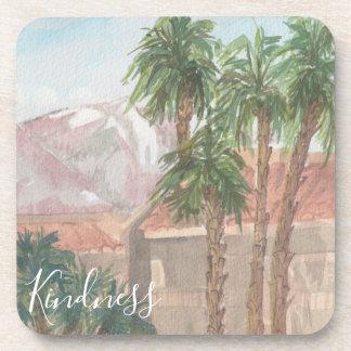 """Untersetzer """"Palm Springwatercolor-Skizze """""""