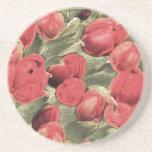 Untersetzer, rote Tulpen, dekorative Kunst
