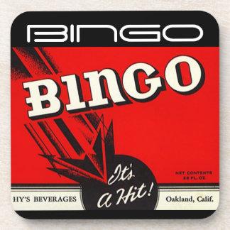 Untersetzer-Vintages Bingo-Getränk ist es ein Schl Getränke Untersetzer