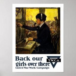 Unterstützen Sie unsere Mädchen dort -- YWCA Poster