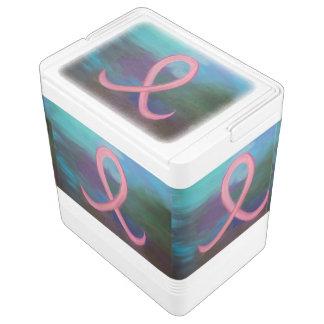 Unterstützendes mutiges rosa Brustkrebs-Band Kühlbox