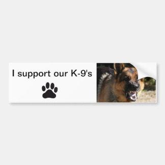Unterstützung des Autoaufklebers I unser K-9 Autoaufkleber