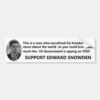 Unterstützung Edward Snowden Autoaufkleber