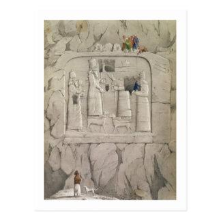 Untersuchung eine Assyrian Felsen-Skulptur, von Postkarte