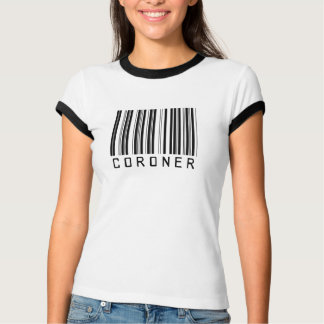 Untersuchungsrichter-Bar-Code T-Shirt