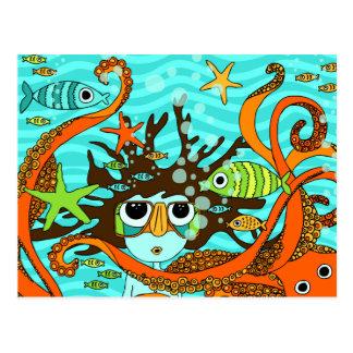 Unterwasser Postkarte