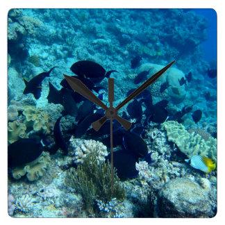 Unterwasser-Uhr Quadratische Wanduhr