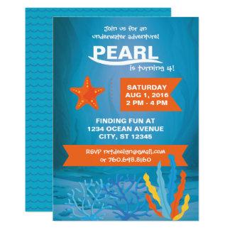 Unterwasserabenteuer-Party-12x18 Einladungen
