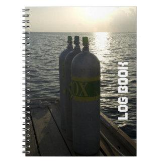 Unterwasseratemgerät-Behälter-Tauchen-Logbuch Notizblock