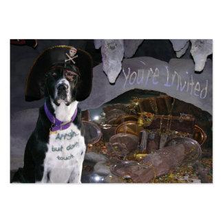 Unterwasseratemgerät-Hund Trading Card der Visitenkartenvorlage