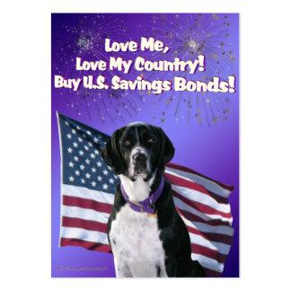 Unterwasseratemgerät-Hundepatriotismus-Trading Visitenkarte