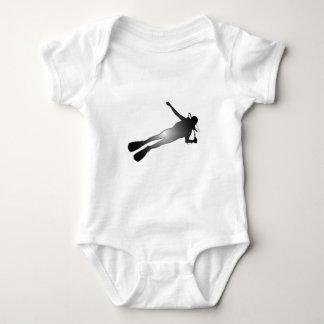 UNTERWASSERATEMGERÄT-NACHTtauchen Baby Strampler