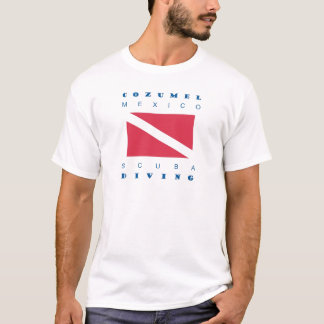 Unterwasseratemgerät-Tauchen Cozumel Mexiko T-Shirt