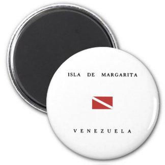 Unterwasseratemgerät-Tauchen-Flagge Isla De Runder Magnet 5,7 Cm