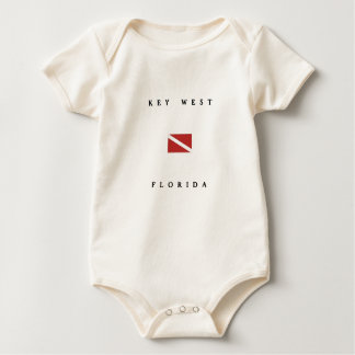 Unterwasseratemgerät-Tauchen-Flagge Key Wests Baby Strampler
