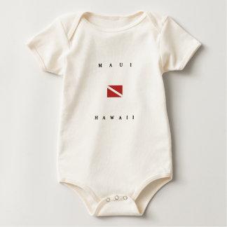Unterwasseratemgerät-Tauchen-Flagge Mauis Hawaii Baby Strampler