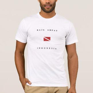 Unterwasseratemgerät-Tauchen-Flagge Rajas Ampat T-Shirt
