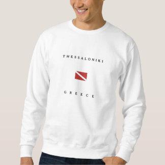 Unterwasseratemgerät-Tauchen-Flagge Saloniki Sweatshirt