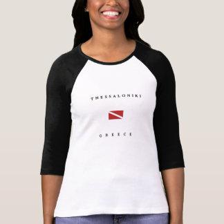 Unterwasseratemgerät-Tauchen-Flagge Saloniki T-Shirt
