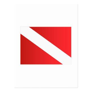 Unterwasseratemgerättauchenflagge [umgewandelt] postkarte