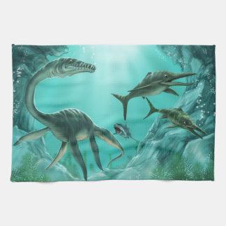 Unterwasserdinosaurier-Geschirrtuch Handtuch