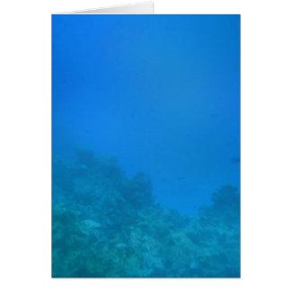 Unterwasserhintergrund-Szene Karte