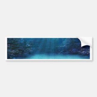 Unterwasserkorallenriff-Türme Autoaufkleber