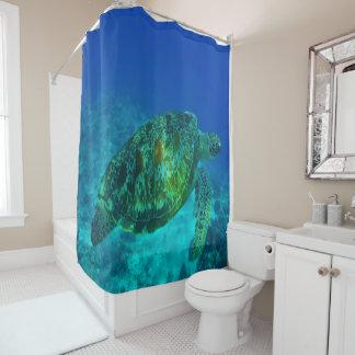 UnterwasserMeeresschildkröte-blaues Duschvorhang