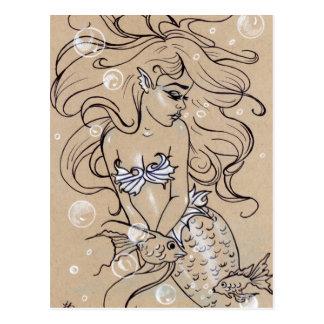 Unterwassermeerjungfrau-Fisch-Postkarte Postkarte