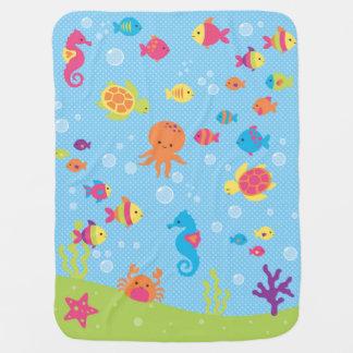 Unterwassertier-Baby-Decke Babydecke