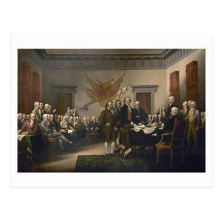 Unterzeichnen der Unabhängigkeitserklärung, am 4. Postkarte