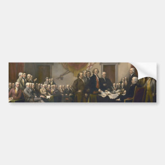 Unterzeichnen der Unabhängigkeitserklärung Autoaufkleber