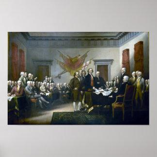 Unterzeichnen der Unabhängigkeitserklärung Poster