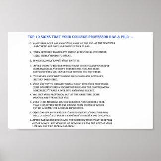 Unterzeichnet Top 10 Ihren Professor hat einen Ph. Poster