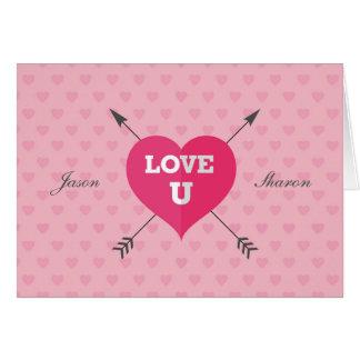 Unterzeichnete und datierte Liebe U kundengerechte Karte