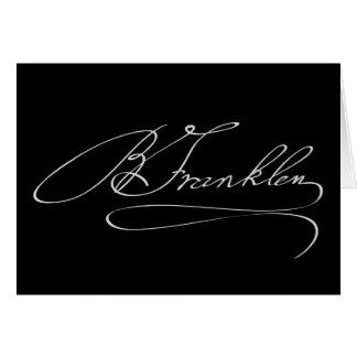 Unterzeichnung Bens Franklin Karte