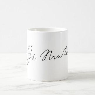 Unterzeichnungs-Autogramm Sir-Isaac Newton Kaffeetasse