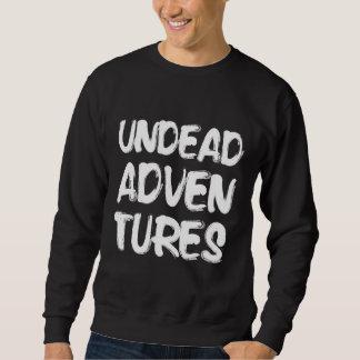 Untote Abenteuer-schwarzes Logo-Sweatshirt Sweatshirt