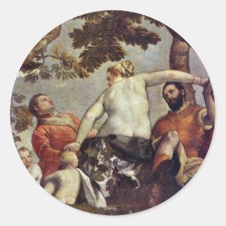 Untreue durch Veronese Paolo beste Qualität Runde Sticker